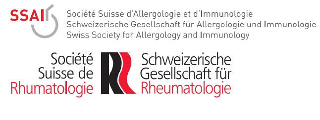 Schweizerische Gesellschaft für Rheumatologie SGR Schweizerische Gesellschaft für Allergologie und Immunologie SGAI